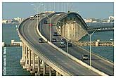 Queen Isabella Causeway (Memorial Bridge) to South Padre Island.