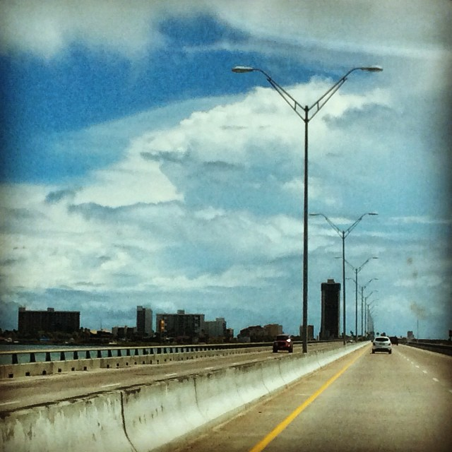 The beautiful drive over the #queenisabellacauseway to #spi from #portisabel #portisabeltx !