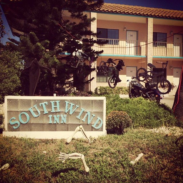 SouthWind Inn decorates for #halloween & #dayofthedead ! #portisabel #portisabeltx #texastodo