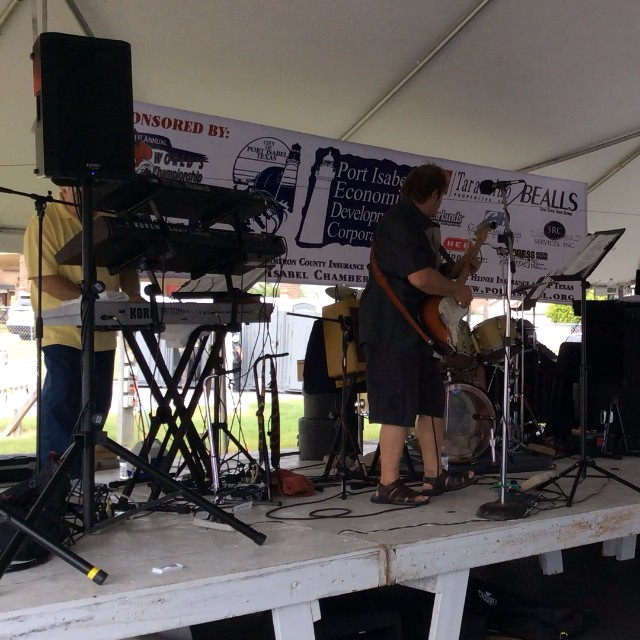 The Agency performs at the World's Championship Shrimp Cook-Off! Catch then and lots of scrumptious shrimp until 6pm! #shrimpcookoff #portisabel #texastodo