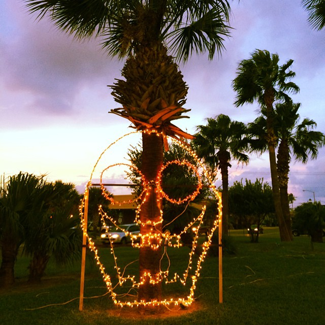 #portisabel #portisabeltx Highway 100 medians decorated for #halloween & #dayofthedead #calavera #skull