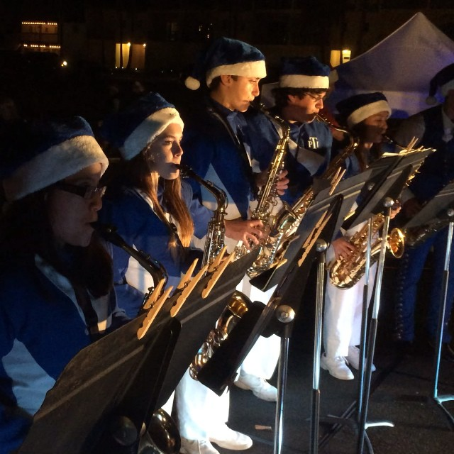 #PIHS Saxophones at the 7th Annual Community Christmas Tree Lighting Ceremony! #texastodo #portisabel #christmastree