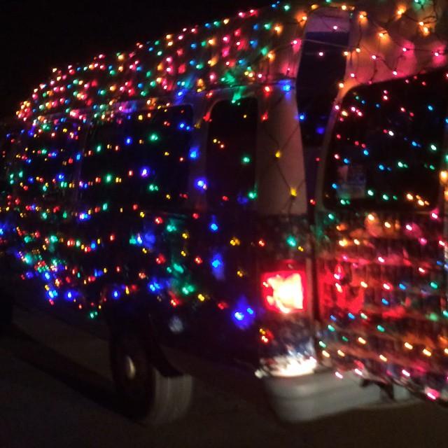 Santa Mobile in #portisabel! #texastodo Small towns do it up big!
