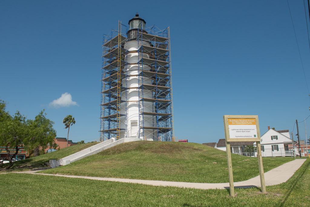 RESTORATION CONTINUES: The Port Isabel Lighthouse will be closed until late August 2017 as Texas Parks & Wildlife undertakes some much needed renovation on the historic structure. The Visitors Center in the Keepers Cottage is still open to the public. Stop in and say hello!  LIGHTHOUSE ESTABLISHMENT CINEMA: The Summer 2017 movie schedule will be cancelled. Plans are underway for the Summer 2018 movie showings.