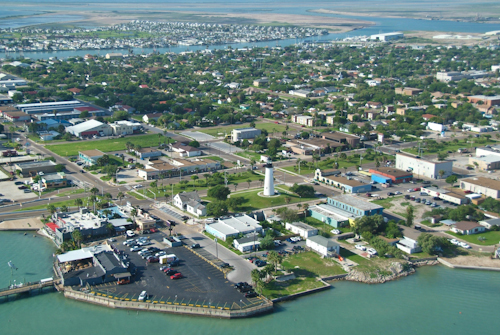 The coastline of Port Isabel includes the Laguna Madre Bay and the Gulf Intracoastal Waterway.